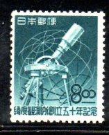 Y1349 - GIAPPONE ,telescopio : Yvert N. 435 Nuovo  *** MNH - Nuevos