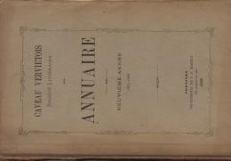 Cercle Littéraire Et Dramatique Littérature Wallonne Le Caveau Liégeois 1889 Annuaire Imp. La Meuse Liège - Libros, Revistas, Cómics