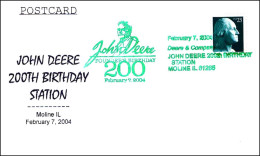 200 Aniv. Nacimiento JOHN DEERE. Moline IL 2004 - Agriculture