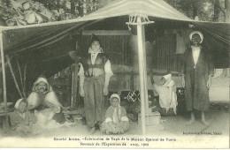 54 CPA Nancy Exposition 1909 Gourbi Arabe Fabrication De Tapis Maison Djemal Tunis Metier A Tisser - Nancy