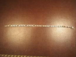 Bracelet Gourmette Argent-21 Cm - Bracciali