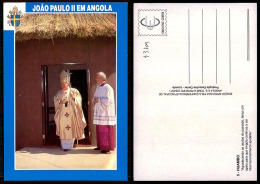 PORTUGAL COR 43709  - ANGOLA - HUAMBO -  SS PAPA JOANES PAULUS II - POPE - - Angola