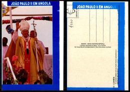 PORTUGAL COR 43710  - ANGOLA - LUANDA -  SS PAPA JOANES PAULUS II - POPE - - Angola