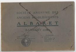 SUPERBE CATALOGUE MATERIEL AGRICOLE ALBARET  RANTIGNY VERS 1920 BATTEUSE LOCOMOBILE PRESSE ROULEAU COMPRESSEUR - Agriculture