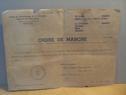 Ordre De Marche 1957 Petit Château Cuesmes Mons La Bouverie - Militaria