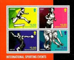 Montserrat - 2014 - International Sporting Events - Mint Stamp Sheetlet - Montserrat