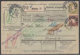 Bayern Paketkarte Mif Minr.63, 66 München 7.12.10 Gel. In Schweiz - Bayern