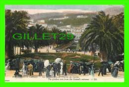 MONTE CARLO, MONACO - THE GARDENS SEEN FROM THE CASINO'S ENTRANCE - LL. - ANIMATED - LÉVY FILS & CIE - - Monte-Carlo