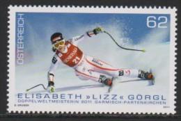 """D 976) Österreich Austria 2011 Mi# 2958 **: Elisabeth """"Lizz"""" Görgl (*1981), Skirennläuferin, Doppelweltmeisterin Ski - 1945-.... 2. Republik"""