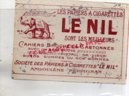 16 - ANGOULEME- 66- PERPIGNAN- BUVARD TABAC - CIGARETTES - LE NIL- ELEPHANT - - Tobacco