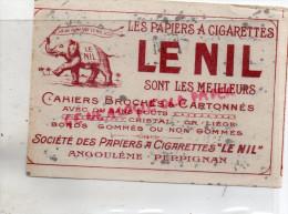 16 - ANGOULEME- 66- PERPIGNAN- BUVARD TABAC - CIGARETTES - LE NIL- ELEPHANT - - Tabac & Cigarettes