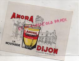 21 - DIJON - BUVARD MOUTARDE AMORA - LA TOUR DU GUET DE PHILIPPE LE BON - Moutardes