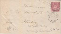 Norddt. Postbezirk 3 Kreuzer 1868 - Bedarfs - GA Brief  Mellenbach - Hamburg - Norddeutscher Postbezirk