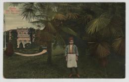 Austro Hungarian Monarchy Croatia Abbazia Villa Angiolina Footman Palm Tree Censored Post Card Postkarte POSTCARD - Croatia