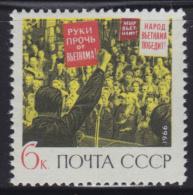 4116. Russia, USSR, 1966, Against The War In Vietnam, MNH (**) Michel 3293 - Ongebruikt