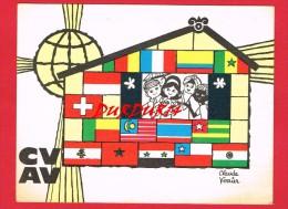 Genre Scoutisme ... Mouvement Coeurs Vaillants Ames Vaillantes ... Signée Claude Verrier ... - Scouting