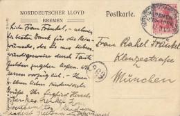 DR AK Nordd. Lloyd Bremen EF Minr.86I Dt.-Amerk.-Seepost Bremen-New York 17.3.09 - Deutschland