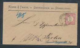 Brustschild-Beleg - Geresheim    (be 753  ) Siehe Scan - Briefe U. Dokumente