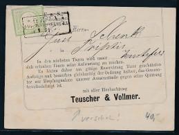 Brustschild-Karte  -Gera    (be 746  ) Siehe Scan - Lettres & Documents