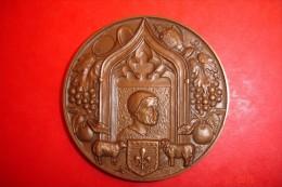 Conseil Général Du Cher.Bronze Signature à Définir.1968.169 Grs.Dia 7cms. - France