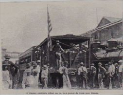 1903  --  PANAMA  --   DRAPEAU AMERICAIN SUR UN TRAIN DEPART DE COLON POUR PANAMA   3A827 - Vieux Papiers