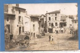 2 CARTES PHOTOS  VEYRE MONTON 1907  ANIMEES  4 SCANS - Photos