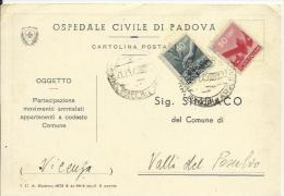 LUC38-Cartolina Con 40 + 80 Cent. Democratica 21.11.1945 - Bella - 1944-46 Lieutenance & Humbert II