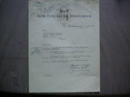 AMSTERDAM  ALPH. ELSENBURG AMSTERDAM NAAML.VENN N.Z.VOORBURGWAL 161-167 COURRIER DU 8 AOUT 1951 - Pays-Bas