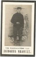 161. ISIDORUS VRANCKX  -  SOLDAAT 2eKLAS VAN 12e LINIEREGIMENT  - Geb.OOSTHAM 1893 / GESNEUVELD DIXMUDE 1916 - Imágenes Religiosas