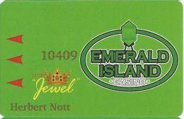 Emerald Island Casino Henderson NV - Printed Club Jewel Slot Card - Casino Cards