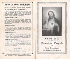 "04492 ""BESANA BRIANZA (MB) - CHIESA PREPOSITURALE- 1917- RICORDO COMUN. PASQ."" IMMAGINE RELIG. ORIGIN. - Devotion Images"