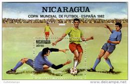 K20708- Bloc MNh -NICARAGUA - 1982 - COUPE DU MONDE DE FOOTBALL - ESPAGNE - 1982 – Espagne