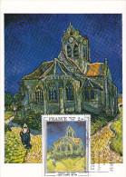 Carte-Maximum FRANCE N° Yvert 2054 (VAN GOGH) Obl Sp FLAMME Ill Auvers Sur Oise (Ed Braun) - 1970-79