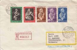 VATICAN - 5 Fach Frankierter R-Brief Gel.v.Citta Del Vatican - Bamberg - Vatikan