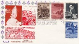 VATICAN - 4 Fach Frankierter FDC-Brief Stempel Citta Del Vatican - Vatikan