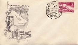ARGENTINIEN 1956 - 1 Peso Auf FDC Brief - Argentinien