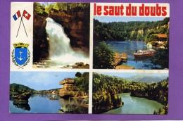 25 LE SAUT DU DOUBS MULTIVUES BLASON  ARRIVEE AU SAUT  DU DOUBS LE ROCHER DE LA CASQUETTE  LES BASSINS - France
