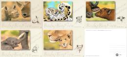 Namibia - 2015 Baby Big Five Postcard Set Mint - Animals