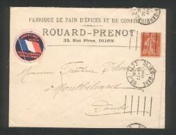 21 - Dijon - Rouard-Prenot - Fabrique De Pain D'épices Et De Confiserie - 32 Rue Piron - 1916 - Dijon
