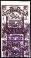 British North Borneo 1887 Issue 3c Violet Imperforate Double Impression. Scott 38. - North Borneo (...-1963)