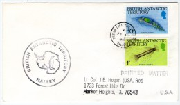 BRITISH ANTARCTIC TERRITORY - COVER FROM HALLEY 1988 / THEMATIC STAMPS-MARINE LIFE - Storia Postale