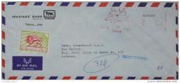 012 IRAN 1978 IRANIAN'S BANK Citybank Commercial Metric Cover To Beirut Lebanon - Iran