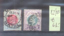 NATAL YVERT NRS. 82-83 OBLITERES COTATION YVERT 61 EUROS VOIR SCAN - Natal (1857-1909)