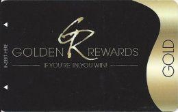 PT´s Entertainment Group Gold Level Golden Rewards Casino Slot Card - Casino Cards