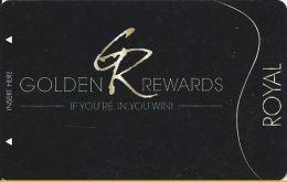 PT´s Entertainment Group Royal Level Golden Rewards Casino Slot Card - Casino Cards