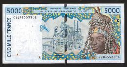 SENEGAL ( West African States) 5000 Francs 2002 - P713Kl  - (see Scan) - Senegal