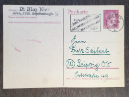 I27 Deutsches Reich Germany Allemagne Ganzsache Stationary Entier Postal Mi. P 299I Von Wien Werbestempel Postscheck - Enteros Postales