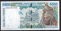 SENEGAL ( West African States) 5000 Francs 2002 - P713Kl  - (see Scan) - Sénégal