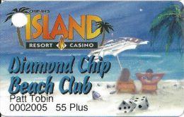 Chip-In Island Resort Casino Harris MI - Diamond Chip Beach Club Slot Card (55 Plus) - Casino Cards