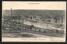 CPA Épernay, Le Pont De La Marne, Vue Générale - France